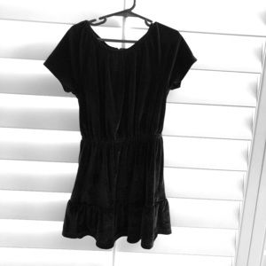 Girls Gap Black Velour Dress, NWOT, 6/7